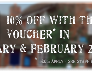 10% Off Voucher Jan/Feb